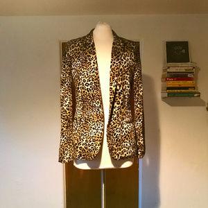 Black Rainn Jackets & Coats - Tailored Leopard Print Blazer